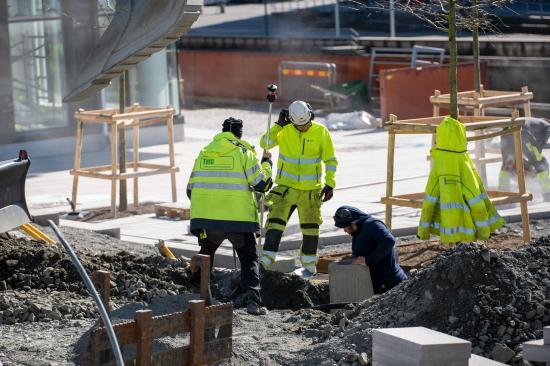 Bild från anläggningsmätning för Park- och naturförvaltningen i Göteborg.