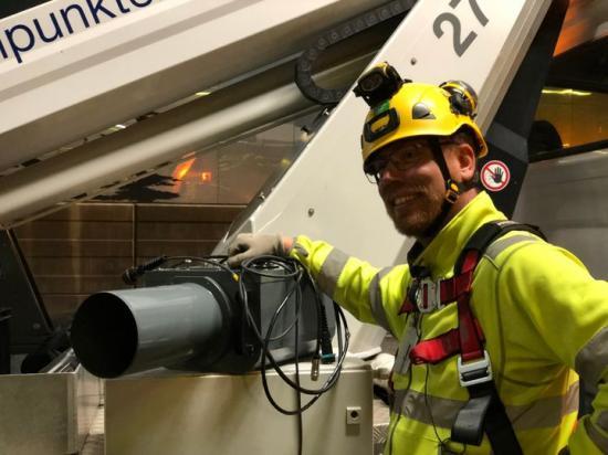 Trafiksäkerhetskamera i vägtunnel Norra länken Stockholm.