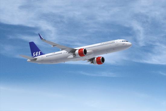 SAS utökar flottan med tre leasade A321 Long Range.