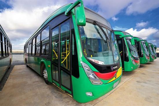Bussarna till Lagos är av samma modell - Marcopolo Viale - som Scania tidigare levererat till staden Accra i Ghana.