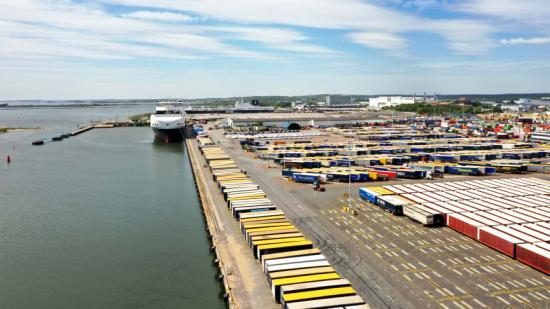 Datainsamlingen för projektet startade på Gothenburg RoRo Terminal under våren 2021
