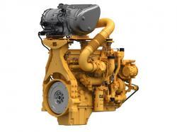 Caterpillar Steg V-motor med utvecklad efterbehandlingsenhet. Anpassad för remotorisering av diesellok.