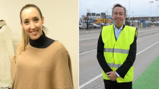 Jamila El-Hallah grundare av I am fashion och Johan Röstin VD för ForSea.