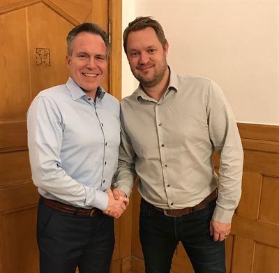 Peter Johansson, Koncernchef Sandbäckens och André Roos, Koncernchef Rörproduktion