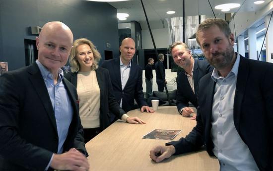Erik Heilborn, Malin Halldén, Fredrik Lindqvist och Mats Wallin, ÅF, samt Fredrik Ekstrand, Cervino Consulting.