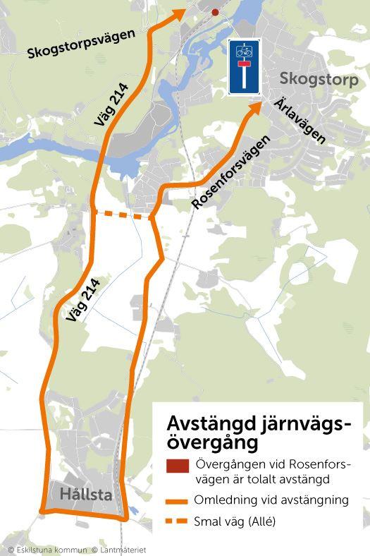 Karta för trafikomläggningen.