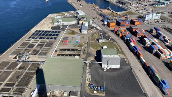 Öresundsverket från ovan, 2021-04-14.