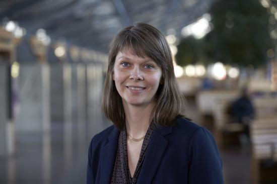 Hanna Björk, hållbarhetschef på Västtrafik.
