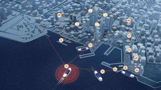 Anslutning av smarta fartyg till smarta hamnar innebär verkliga fördelar för sjöfarten.