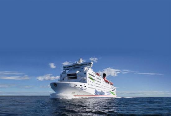 Passagerarfartyget Stena Saga som trafikerat linjen Oslo-Frederikshavn sedan 1994 ligger för tillfället vid kaj i hemmahamnen Göteborg.