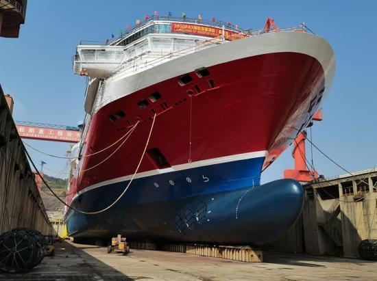 Viking Lines nya fartyg Viking Glory sjösättsden 26 januari på XSI:s varv i Xiamen.