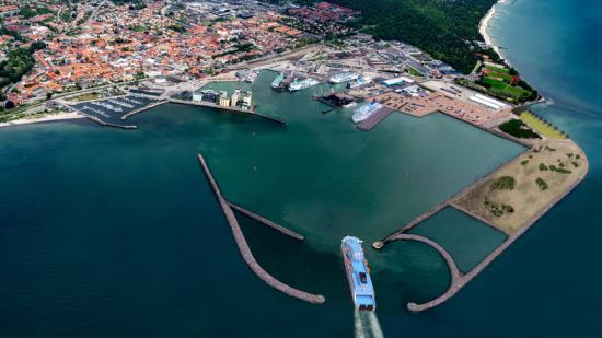 Ystad Hamn är en av Sveriges största hamnar.