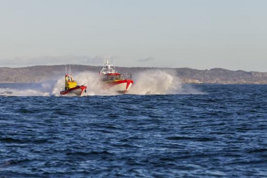 Nomineringarna till Årets Sjöräddare 2018 är klara. På bilden syns sjöräddningssällskapets räddningsbåt i Gunnel Larson-klassen.