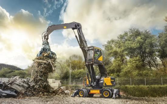 Volvo Construction Equipments nya materialhanterare EW240E är utvecklad specifikt för avfalls- och återvinningsindustrin och tillverkas i Volvos fabriker.