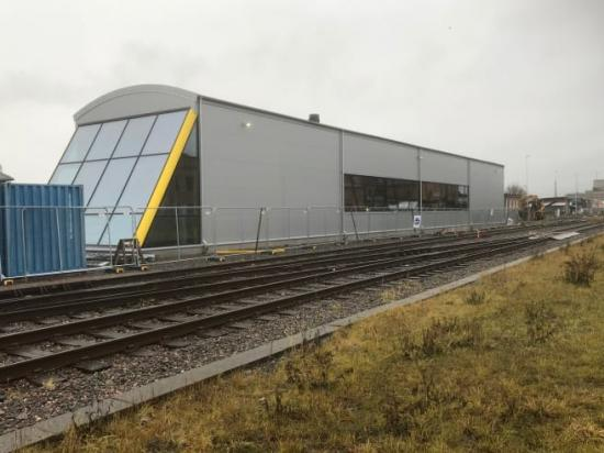 Nu kan tågen på Kinnekullebanan repareras på närmare håll.