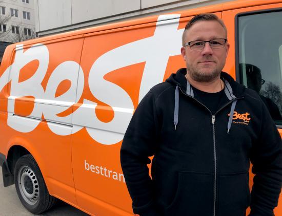 Dennis Ericsson, förarinstruktör på Best Transport.