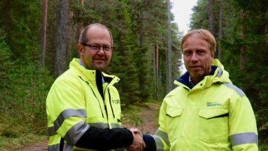 Magnus Karlsson, VD Exeri och Jörgen Andersson Strand, VD PiteEnergi.