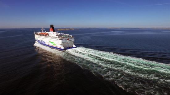 Stena Danica på väg mot Frederikshavn.