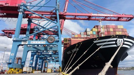 APM Terminals i Göteborg summerar årets första kvartal med en marknadsandel på 44 procent.