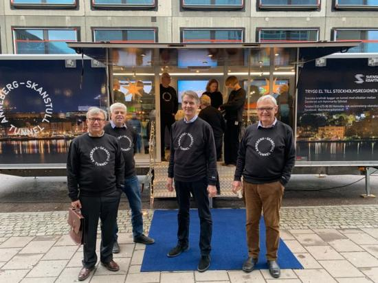 Håkan Damberg, Per Engblom, Gunnar Possebo och Gunnar Nord.
