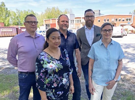 David Lindahl, Sofia Carlsén, Magnus Ekman, Daniel Eriksson och Susanne Hansson på Instamate.