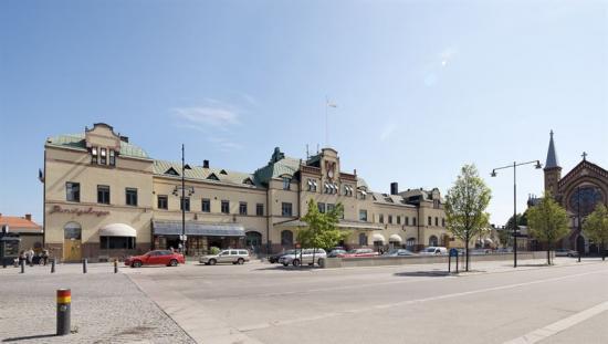 Utanför Gävle Centralstation.