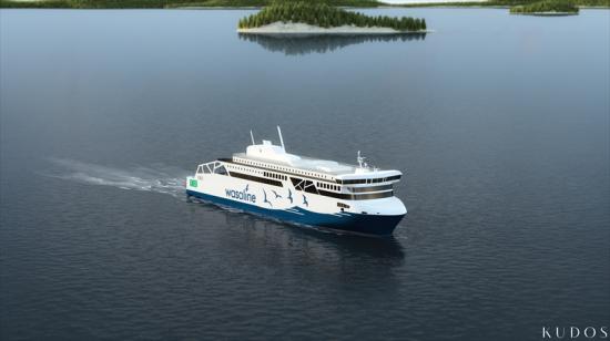 Den nya Wasaline-färjan kommer att förses med Wärtsilä-lösningar som gör det till ett av världens mest effektiva och miljövänliga fartyg.