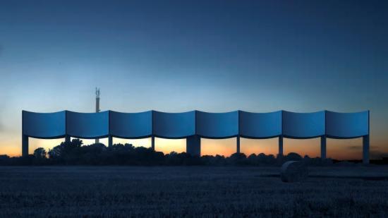 Visionsillustration av vattentornet VÅGA iVarberg.