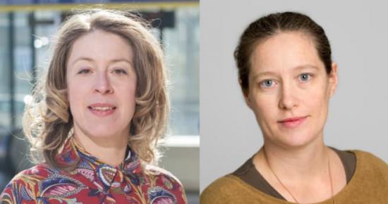 Malin Fijen Pacsay (Mp), toppkandidat till landstinget och Amanda Palmstierna (Mp),toppkandidat till Riksdagen.