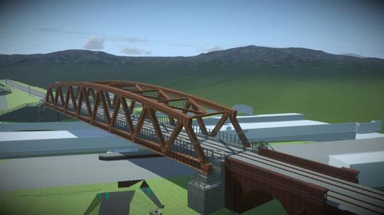 Skiss från broprojektet.