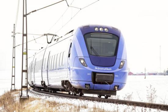 Punktligheten för de skånska tågen ökade rejält under 2019 jämfört med 2018.