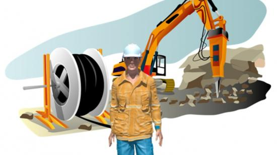 Illustration från utbildningen EBR Kabelförläggning.