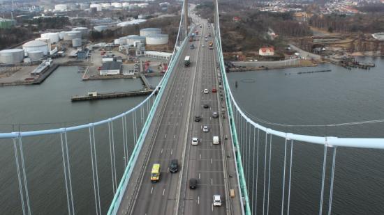 Den 16 april inleds underhållsarbeten på Älvsborgsbron.Trafik Göteborg