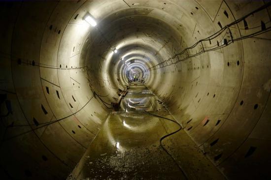 Bild från tunnelbygget av Cityringen.