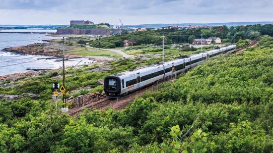 Tågtrafiken påverkas i Varberg.