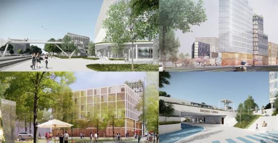 Några olika förslag och idéer på hur det skulle kunna se ut när området runt Örebro södra byggs om.