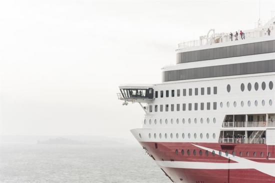 Fartyget Viking Grace till sjöss.