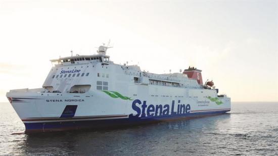 Stena Nordica är en av tre färjor som trafikerar Karlskrona-Gdynia.