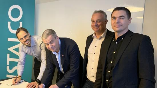Robin Boheman, Instalco och Bengt Löfqvist, Stefan Ullsand och Emil Björling, ELUB.