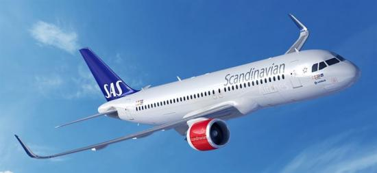 SAS Airbus A320neo.